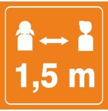 Biztonságos távolság - matrica - iskolába