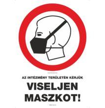 Az intézmény területén kérjük viseljen maszkot matrica