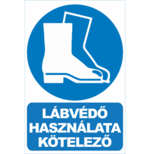Védőcipő használata kötelező tábla