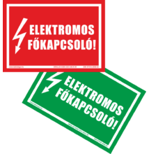Elektromos főkapcsoló matrica