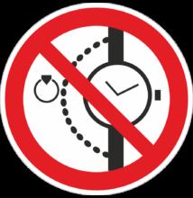 Ékszer viselése tilos tábla – piktogram