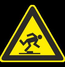 Botlásveszély piktogram tábla