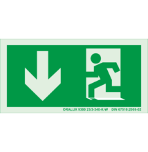 Menekülési útvonal le ajtóval bal