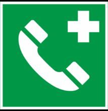 Segélyhívó telefon tábla – utánvilágító