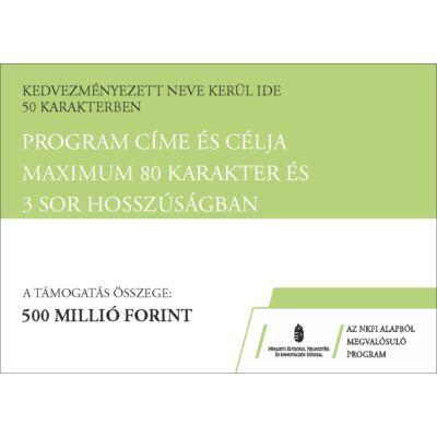 NKFI program C típusú tábla