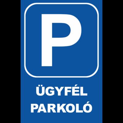 Parkoló tábla - ügyfélparkoló