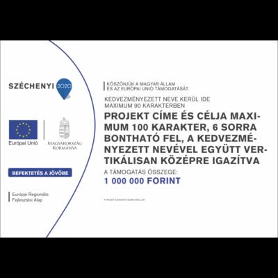 D típusú tábla - Széchenyi 2020