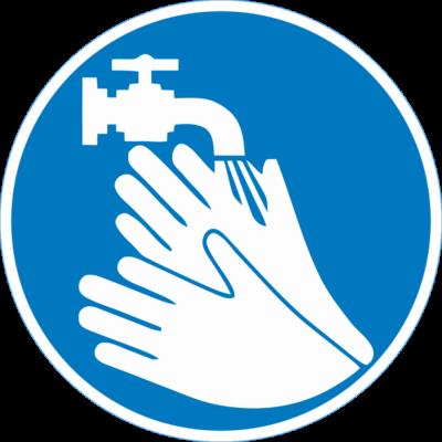 Kézmosás kötelező piktogram – tábla