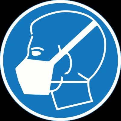 Maszk használata kötelező piktogram – tábla