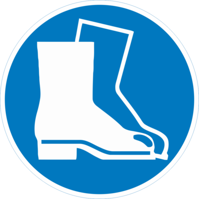 Védőcipő használata kötelező piktogram – tábla