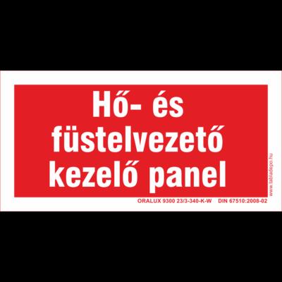 Hő és füstelvezető panel - utánvilágító tábla