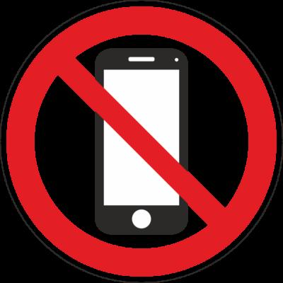 Mobiltelefon használata tilos tábla – piktogram