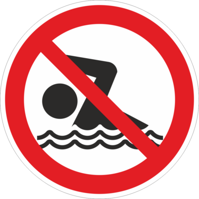 Fürödni, úszni tilos tábla