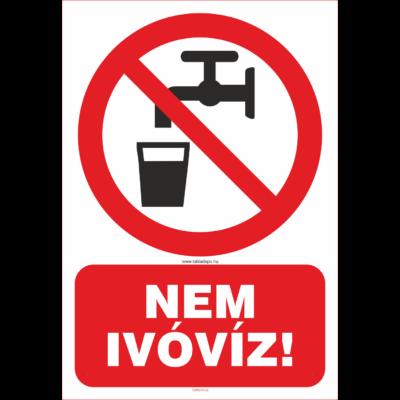 Nem ivóvíz tábla