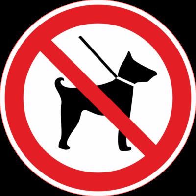 Kutyát behozni tilos tábla - piktogram