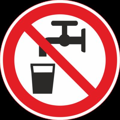 Nem ivóvíz tábla – piktogram