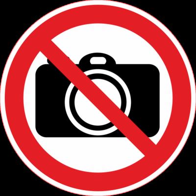 Fényképezni tilos tábla – piktogram