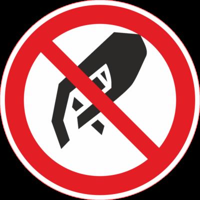 Érinteni tilos tábla – piktogram