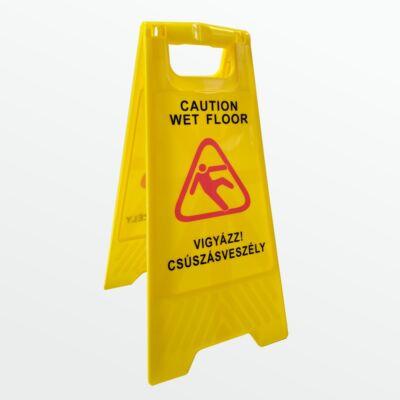 Csúszásveszély figyelmeztető tábla - kétoldalas