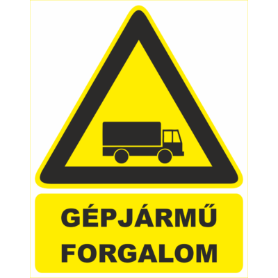 Gépjármű forgalom tábla