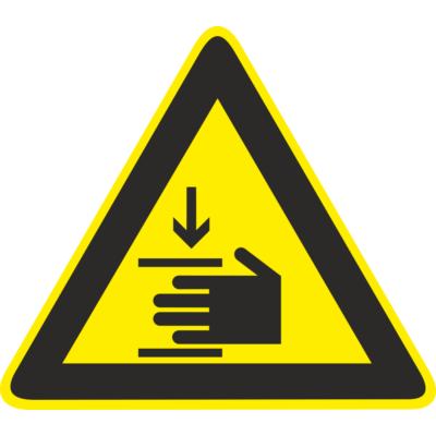 Kézsérülés veszélye piktogram – tábla