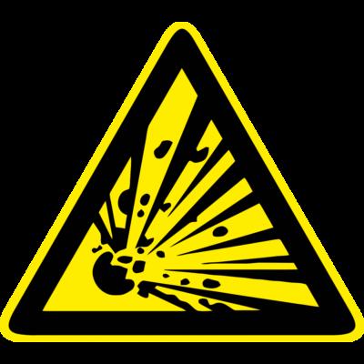Robbanásveszély piktogram tábla