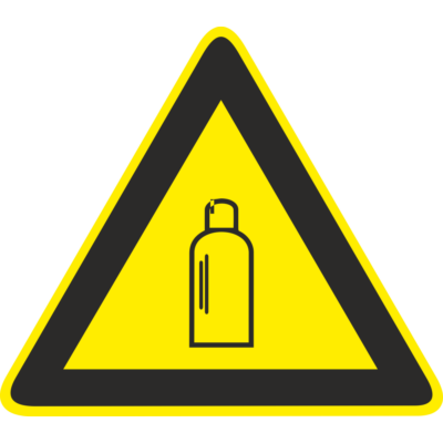 Gázpalack piktogram tábla