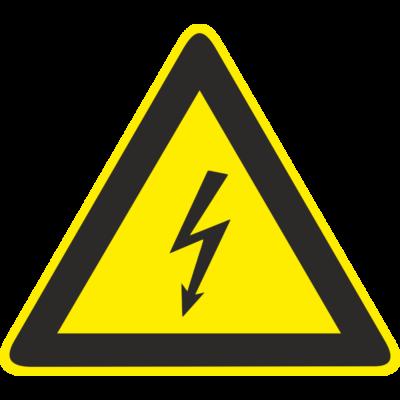 Áramütés veszélye piktogram tábla