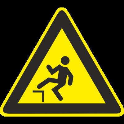 Zuhanásveszély piktogram tábla