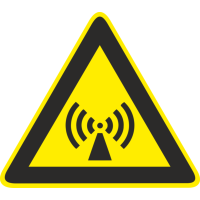 Nem ionizáló sugárzás tábla
