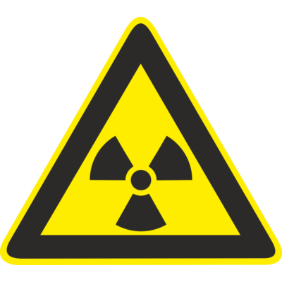 Sugárveszély piktogram tábla