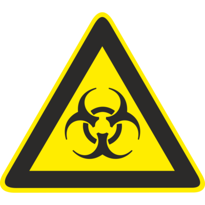 Biológiai veszély piktogram tábla