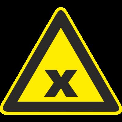 Ártalmas vagy ingerlő anyag jelölése – tábla