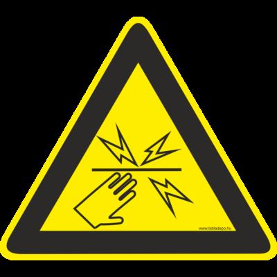 Villanypásztor figyelmeztető piktogram – tábla