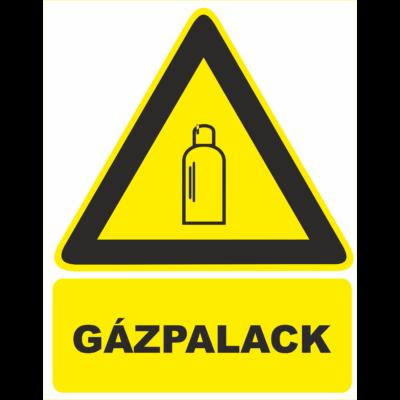 Gázpalack – tábla