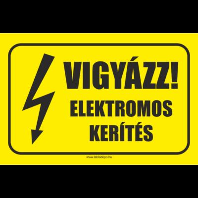 Vigyázz elektromos kerítés