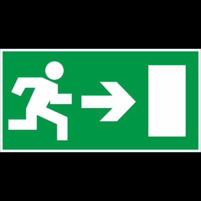 Menekülési útvonal tábla - jobbra