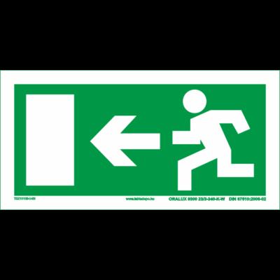Menekülési útvonal utánvilágító tábla – balra