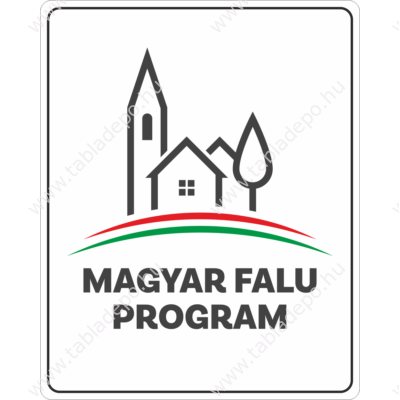 magyar falu program tábla