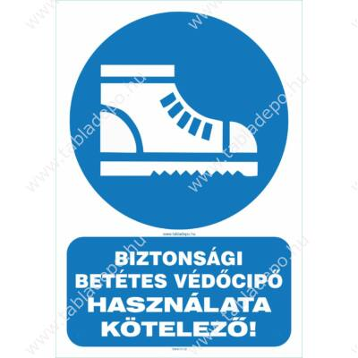 biztonsági védőcipő használata kötelező
