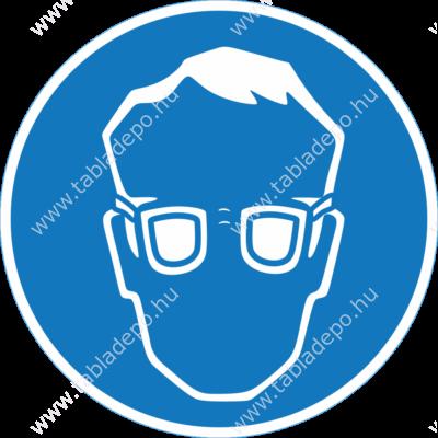 védőszemüveg piktogram