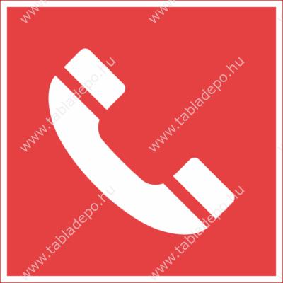 tűzvédelmi utánvilágító tábla – telefon