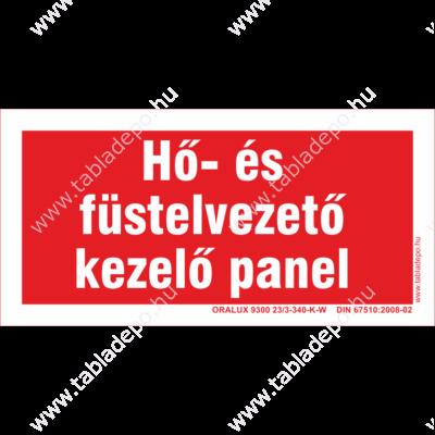 hő és füstelvezető panel – utánvilágító tábla