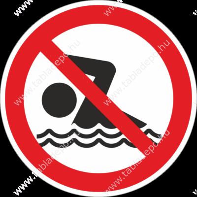 fürödni, úszni tilos