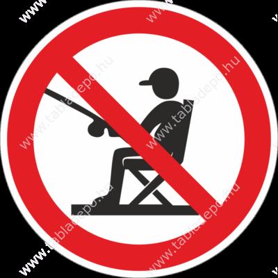 horgászni tilos tábla