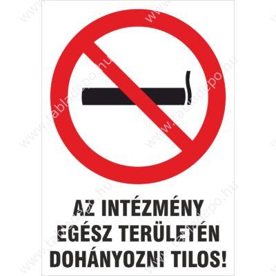 dohányzást tiltó tábla