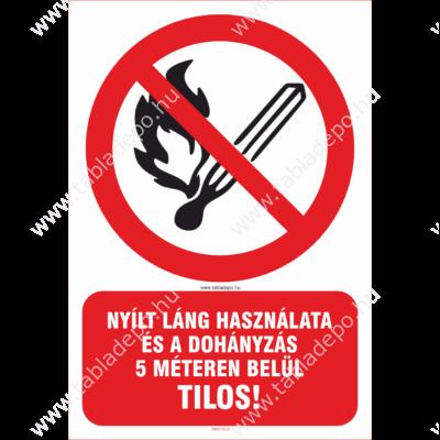 dohányzást tiltó matrica és tábla