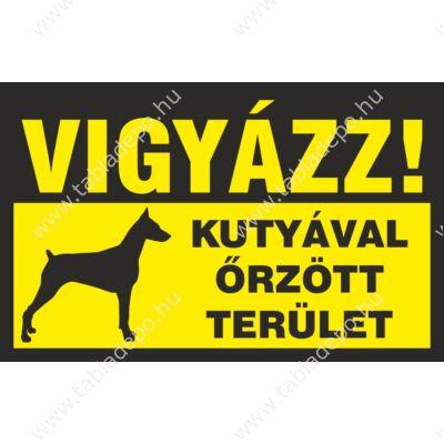 vigyázz kutyával őrzött terület