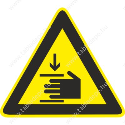 kézsérülés veszélye tábla és matrica