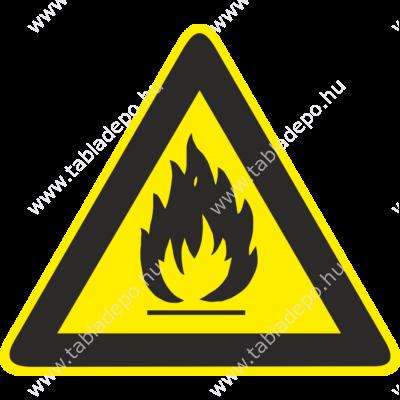 tűzveszély tábla